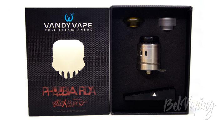 Vandy Vape PHOBIA 2 RDA - что в коробке