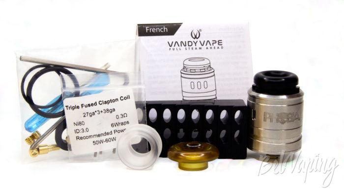 Vandy Vape PHOBIA 2 RDA - комплект поставки