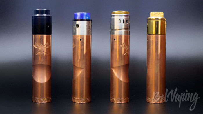 Serisvape VIKING MOD - внешний вид с разными испарителями