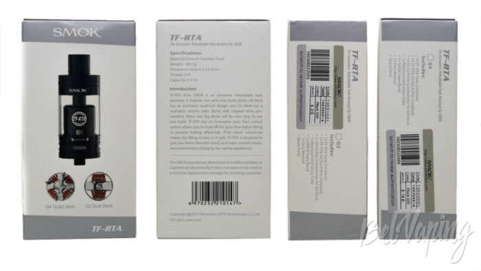 Smok TF-RTA - упаковка