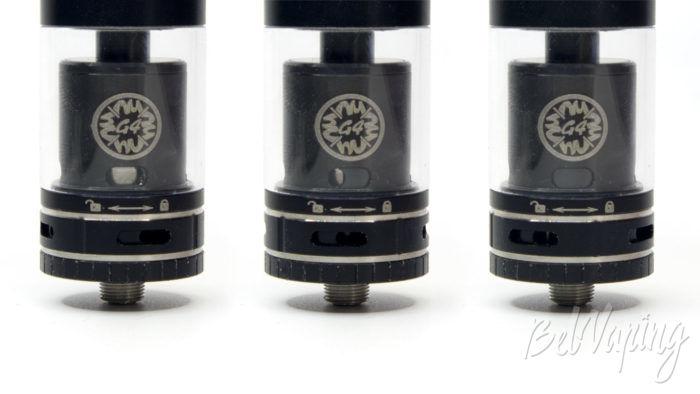Smok TF-RTA - регулировка обдува и подачи жидкости