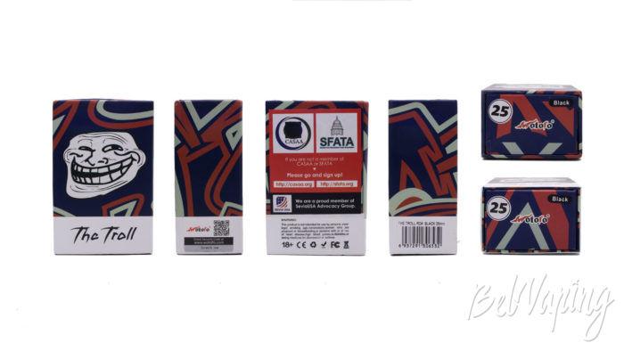 Wotofo THE TROLL V2 DRA 25mm - упаковка
