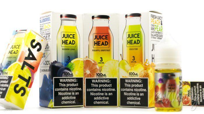 Жидкости Juice Head E-Liquid на обычном и солевом никотине