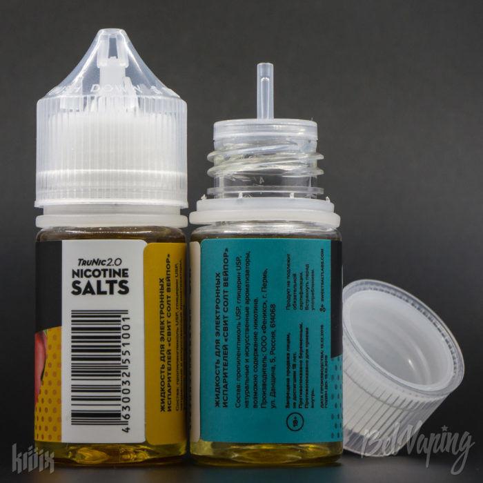 Тара и этикетка жидкости Sweet Salt Vapor