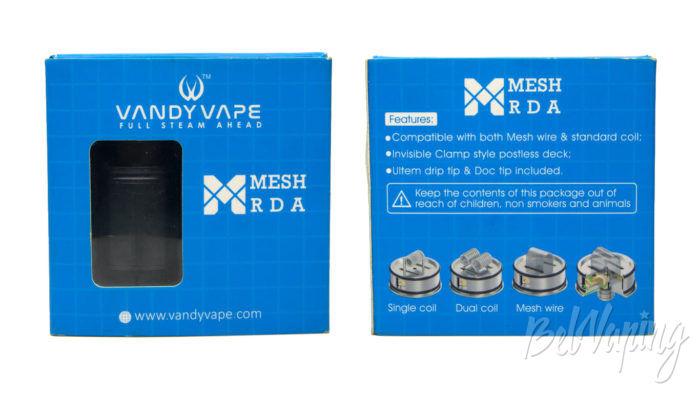 VandyVape MESH RDA - упаковка