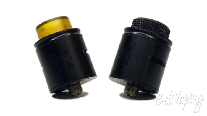 VandyVape MESH RDA - внешний вид с разными дриптипами