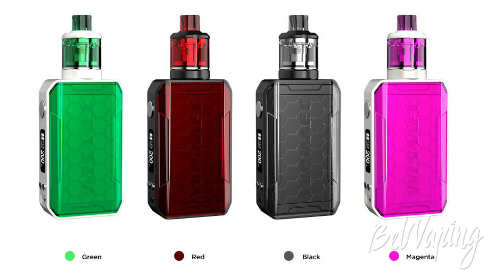 Цвета Wismec Sinuous V200 Kit