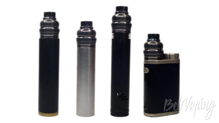 Wotofo RYUJIN (Elder Dragon) RDA - внешний вид на разных батарейных блоках