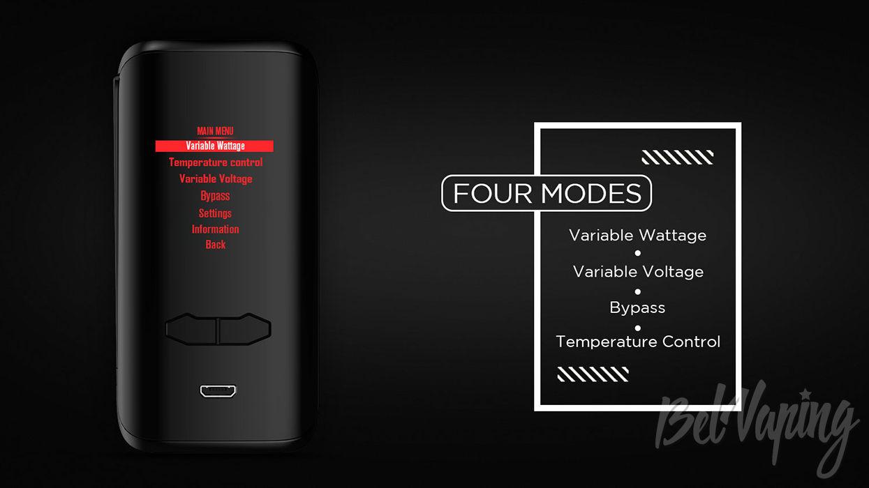 Режимы работы Fire Augvape VX200 Mod