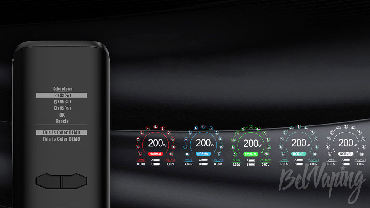 Интерфейс Augvape VX200 Mod
