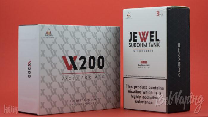 Упаковка набора Augvape VX200