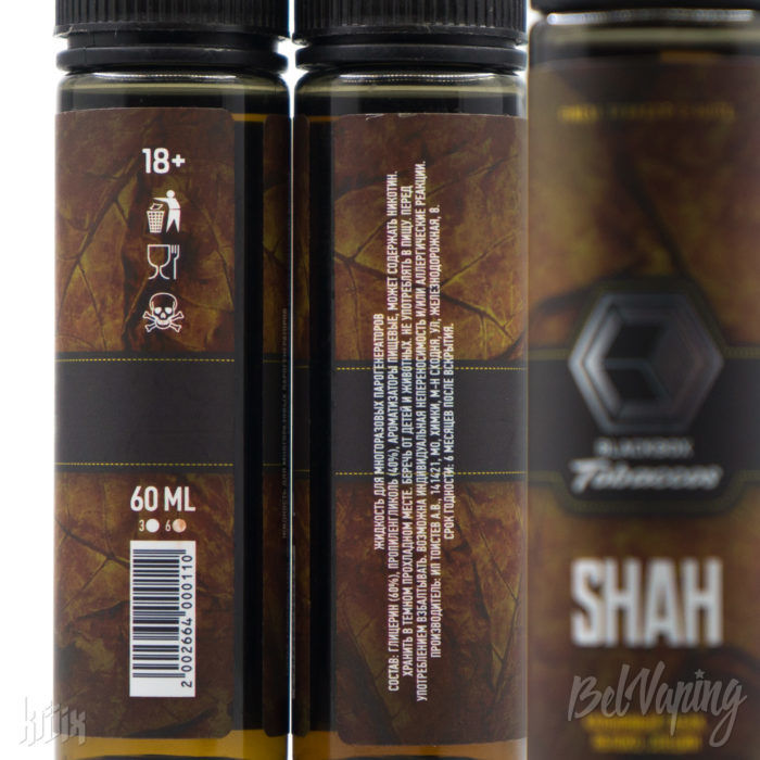 Этикетка жидкости Blackbox Tobaccos