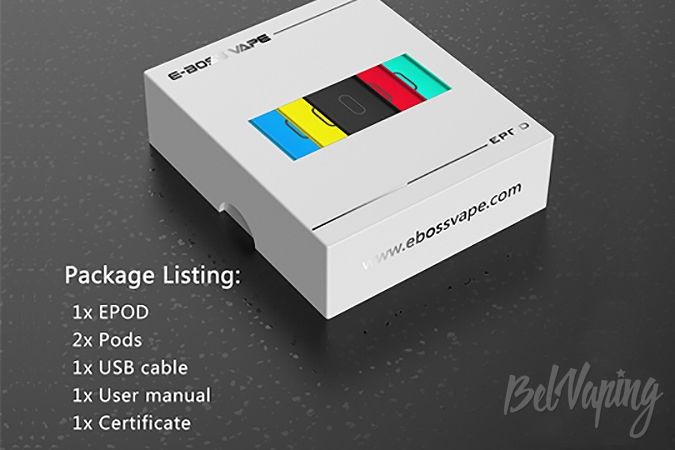 Комплектация E-bossvape Epod Starter Kit