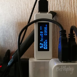 Измеренная емкость аккумулятора RELX Starter Kit
