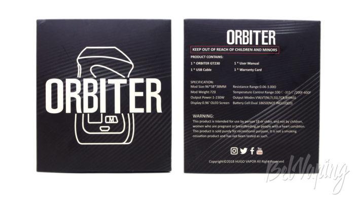 Hugo Vapor ORBITER GT230 MOD - упаковка