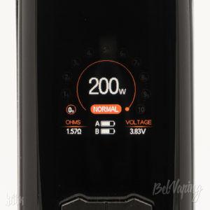 Экран боксмода Augvape VX200 в режиме вариватт
