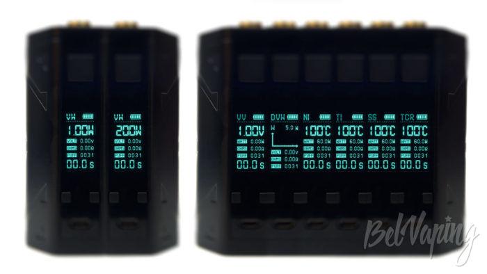Smoant BATTLESTAR QSUONKER MOD - интерфейс