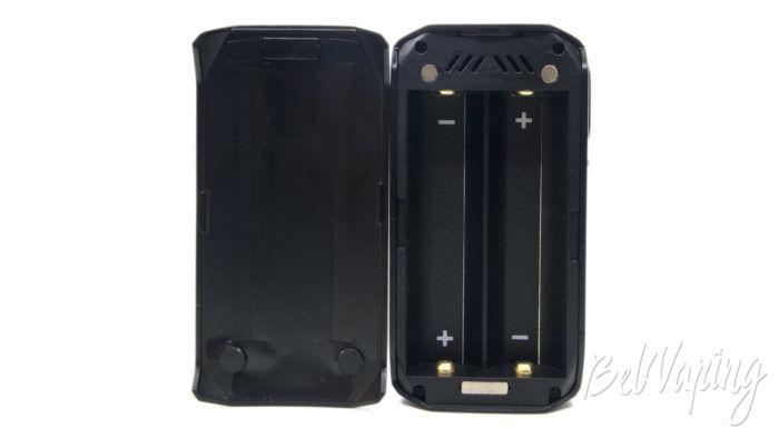 Smoant NABOO 225W mod - отсек для аккумуляторов