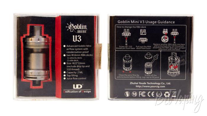 UD GOBLIN MINI V3 RTA - упаковка