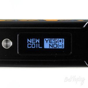 Экран при накручивании нового атомайзера на VOOPOO Drag 2