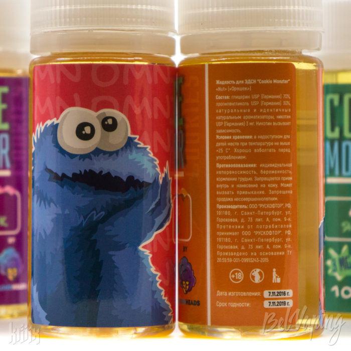 Этикетка жидкости Cookie Monster