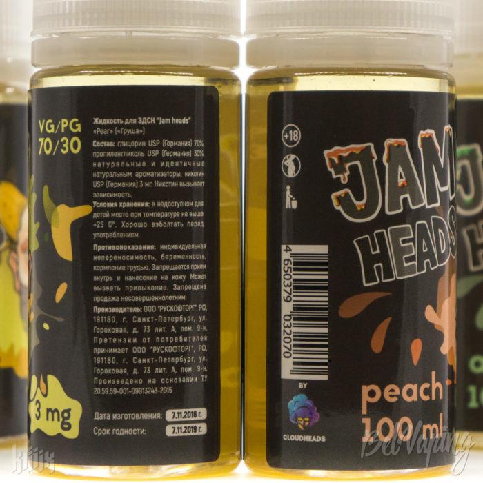 Этикетка жидкости Jam Heads