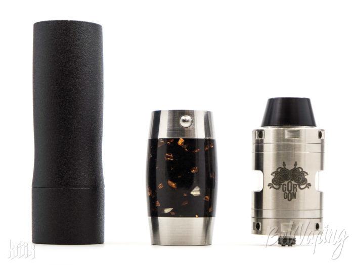 Сравнение размеров (слева направо): Kraken (для аккумулятора 18650), Colibri Stone Mod (для 18350) и Gorgon RDCA