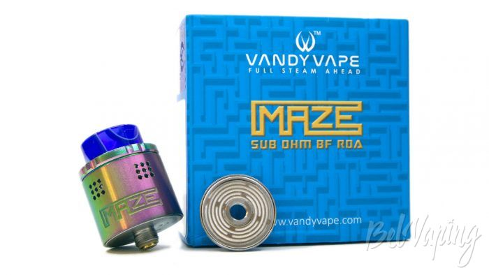 Обзор VandyVape MAZE Sub Ohm BF RDA