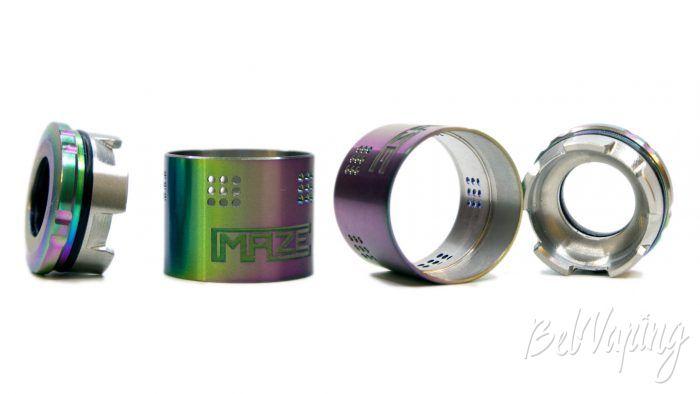 VandyVape MAZE Sub Ohm BF RDA - кольцо регулировки обдува и испарительная камера