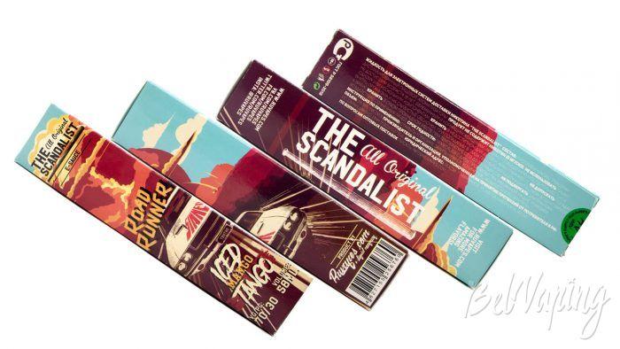 Жидкость THE SCANDALIST ROAD RUNNER от Ruvapes - упаковка