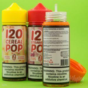 Тара и этикетка жидкости 120 POP Series E-juice