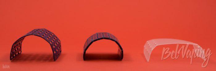 Проставки для аккумуляторов (слева направо): 20700, 18650 и 21700 для мехмода El Thunder 21700 OG