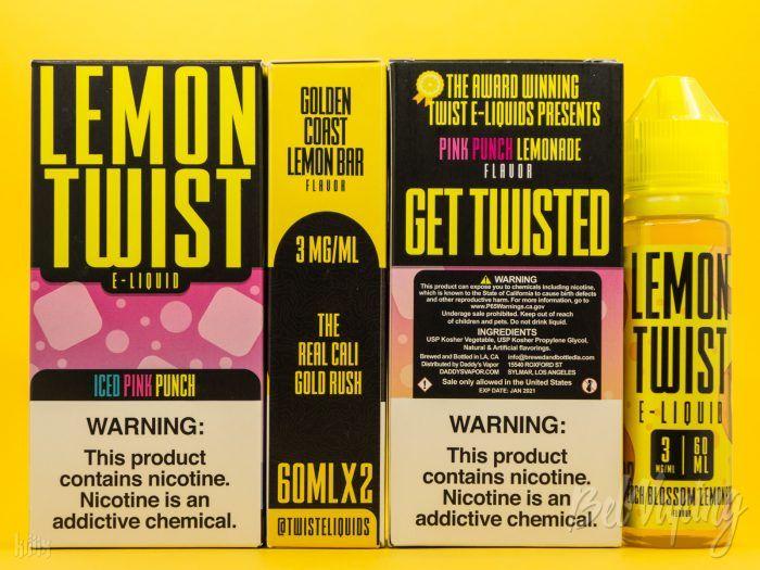 Упаковка жидкости Lemon Twist E-Liquid