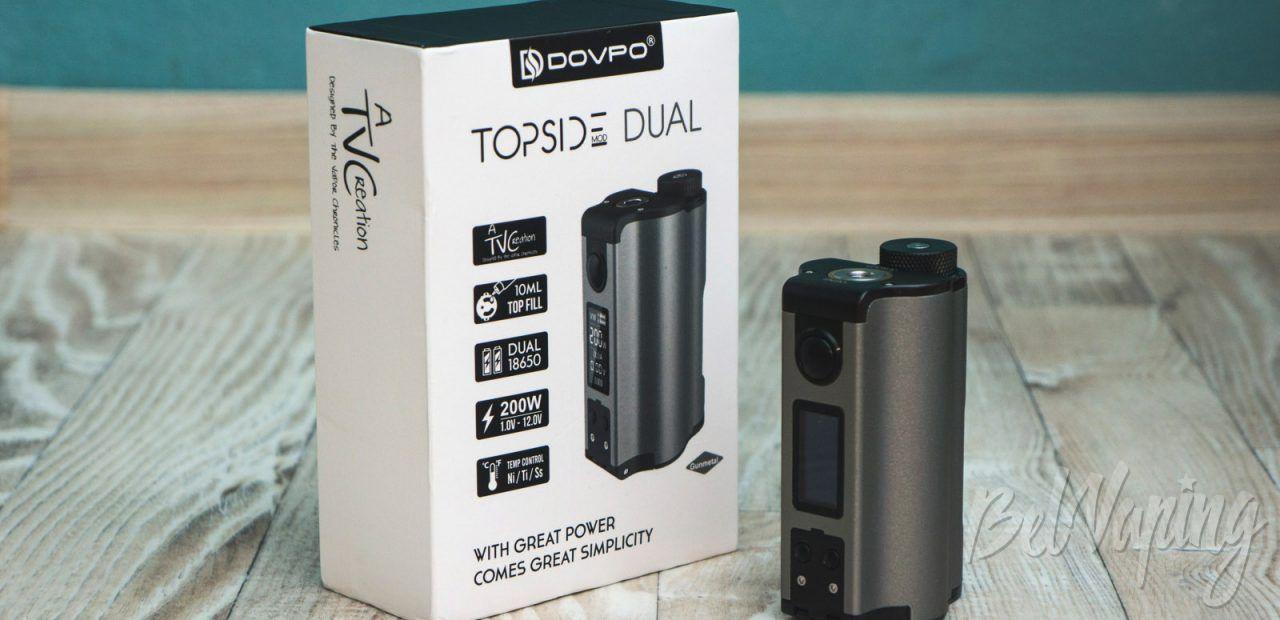 Обзор DOVPO Topside Dual Squonk Mod 200W