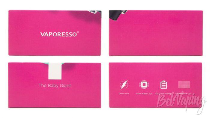 Vaporesso TAROT BABY with NRG SE Tank - упаковка