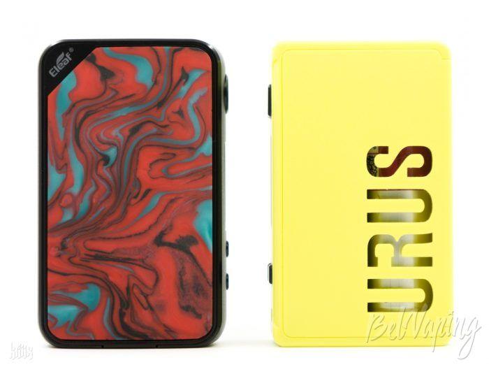 Сравнение размеров Eleaf iStick Mix (слева) и Hugo Vapor URUS