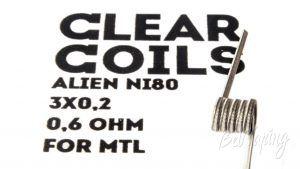 ClearCoils Alien NiCr 3x0.2x0.1