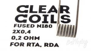 ClearCoils Fused NiCr 2x0.4x0.1