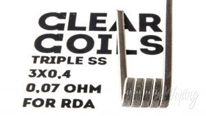 ClearCoils Trople SS 3x0.4x0.1