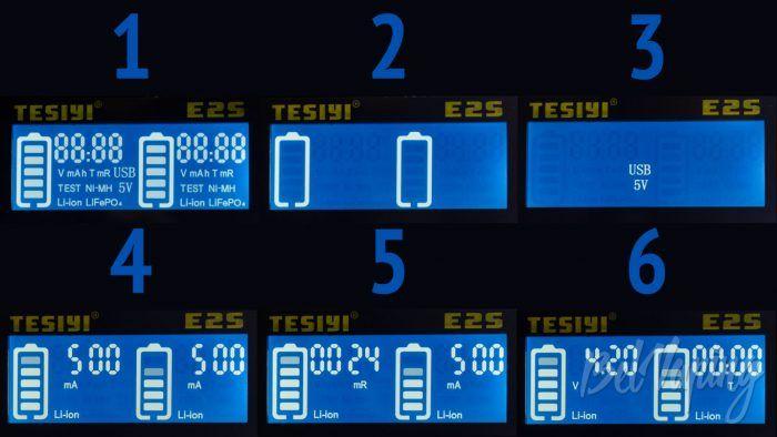 Tesiyi E2S. - информация на экране
