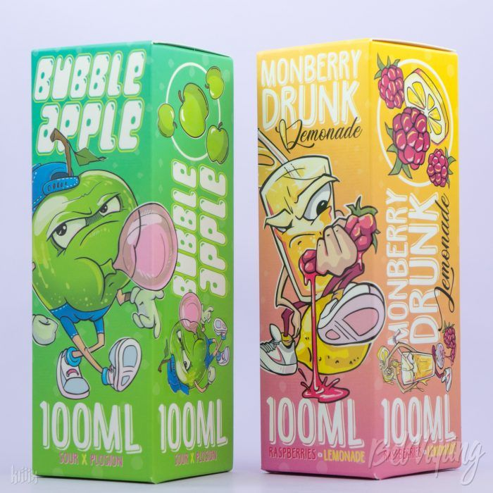 Жидкости Bubble Apple и Monberry Drunk