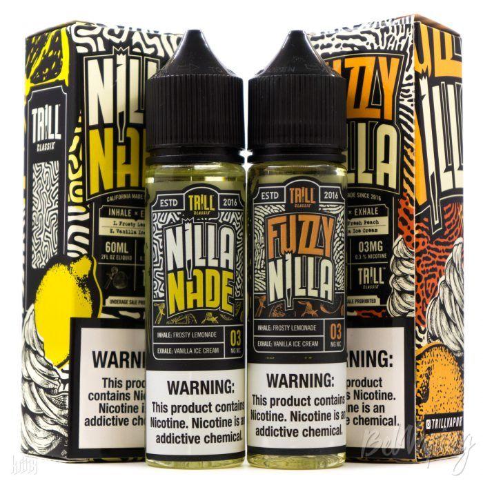 Жидкости Fuzzy Nilla и Nilla Nade от Trill Classix E-Liquid