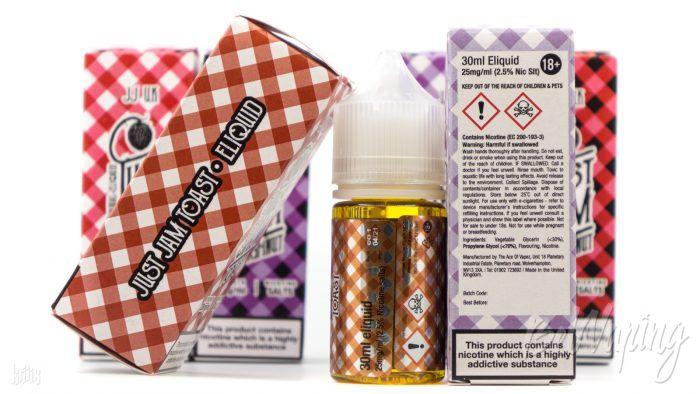 Упаковка, тара и этикетка жидкости Just Jam Salts