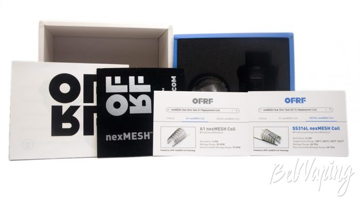 OFRF nexMESH Sub-Ohm Tank - бумаги