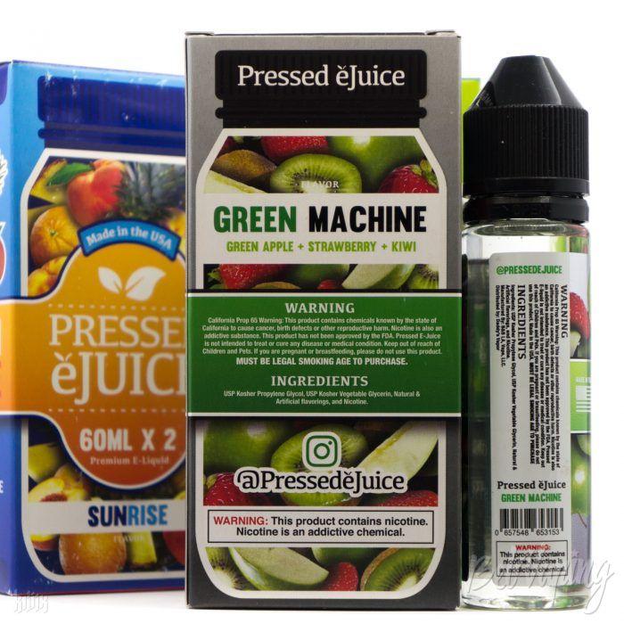 Упаковка и этикетка жидкости Pressed E-Juice