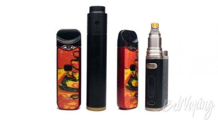 Smok NORD Kit - сравнение размеров