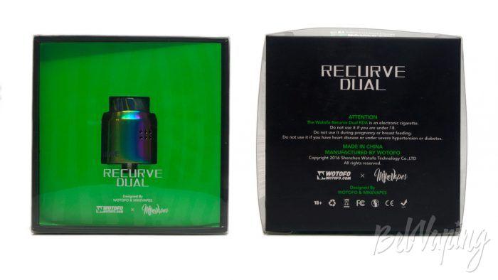 Wotofo RECURVE DUAL RDA - упаковка