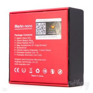 Упаковка Augvape Merlin Nano MTL RTA