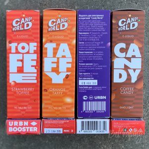 Упаковка жидкости Candy World от URBN