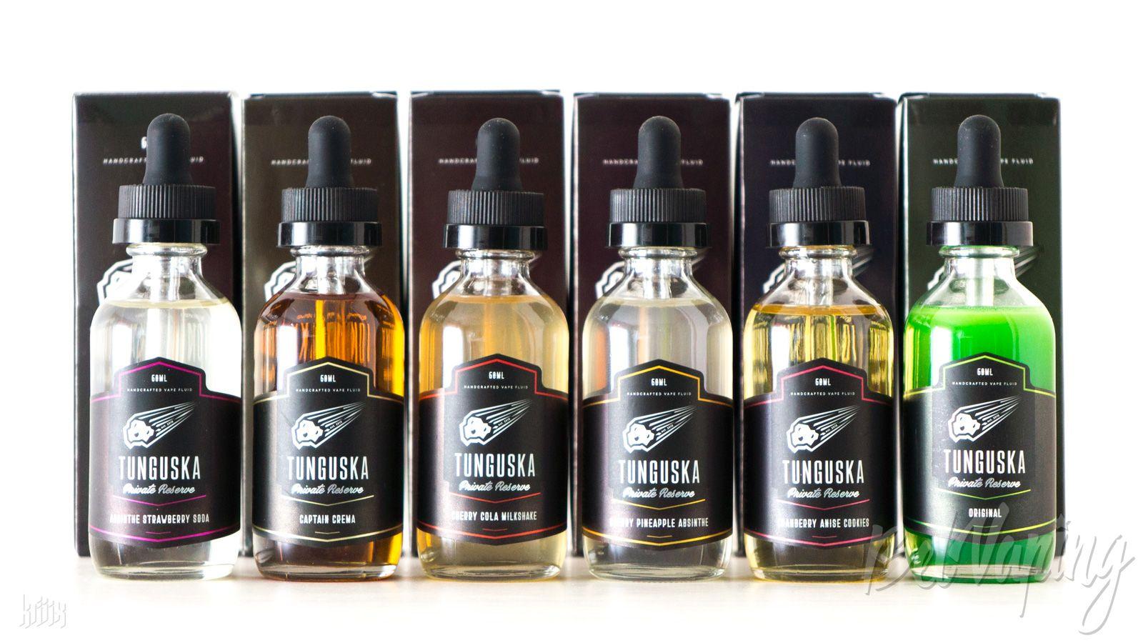 Линейка жидкости Tunguska Private Reserve от Blackbox Liquids